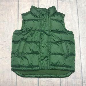 EUC Old Navy Green Puffer Vest